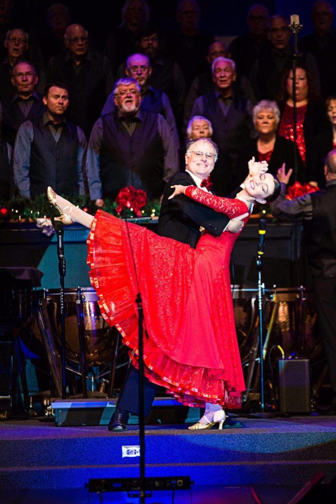 Michael and Tara Dancing at FBC Mel Christmas